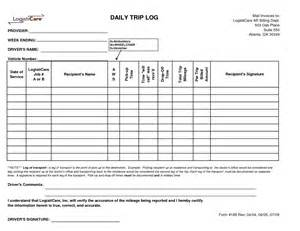 Trucking Trip Sheet Templates by Truck Driver Log Book Exles