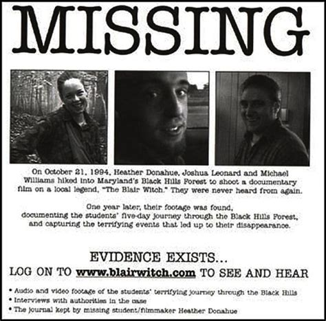 film quiz with faces missing is blair witch real the truth behind the horror story
