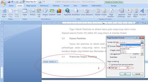 cara membuat nomor halaman tidak sama fisika veritas cara membuat nomor halaman dengan tipe