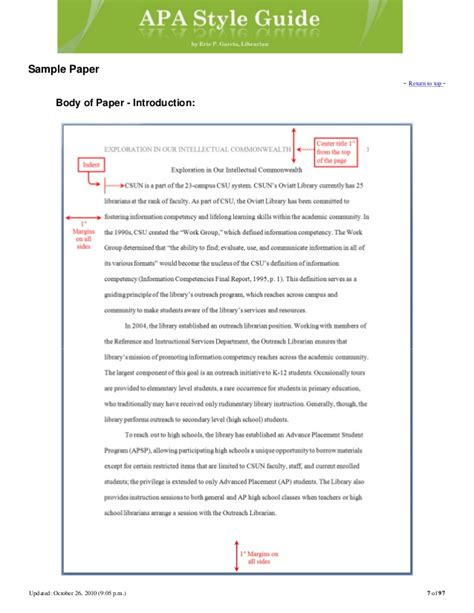 apa format instructions apa style guide