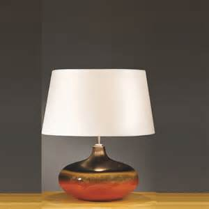 Small Table L Light Elstead Lighting Colorado Brown Orange Table L Small
