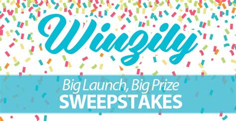 Sweepstakes Platform - winzily big launch big prize sweepstakes winzily