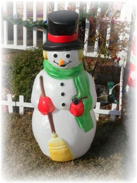vintage large lighted blow snowman decorating for a vintage style s creative designs