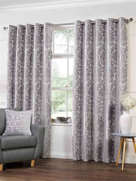 silver and purple curtains camden lined eyelet curtains in silver free uk delivery
