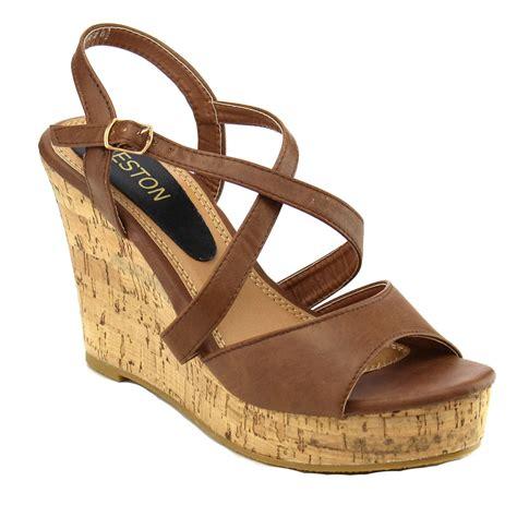2 sandal heels s strappy slingback platform wedge heel sandal run