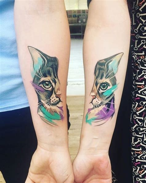 matching cat tattoos cat tattoos insider