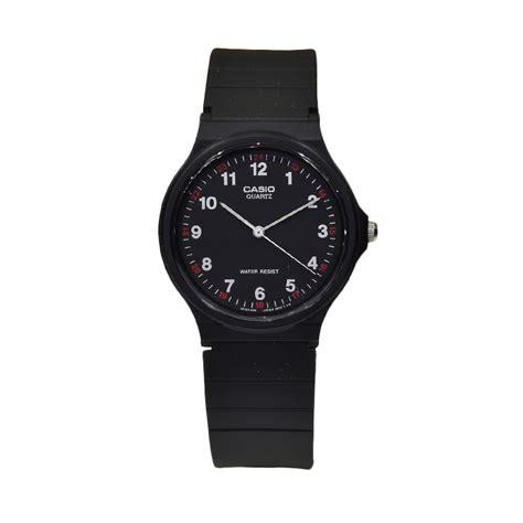 Jam Tangan Pria Casio Original Black jual casio jam tangan pria original black cs 7414 bonus