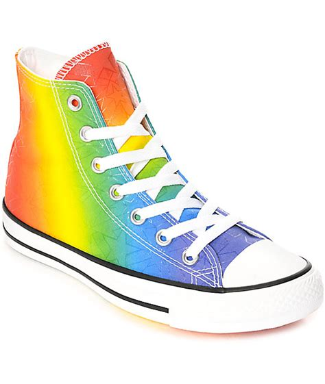 converse ctas hi pride pack white multi colored shoes