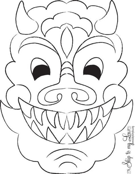 new year mask colouring mask and new year s crafts on