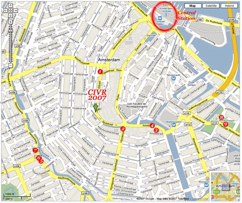 map of city center amsterdam city centre map