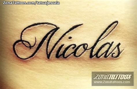 imagenes de tatuajes de nombres en letra cursiva nombre nicolas en pictures to pin on pinterest tattooskid