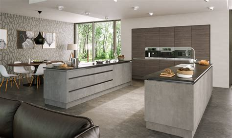 Livingroom Glasgow valore grey brown ontario walnut light concrete kitchen