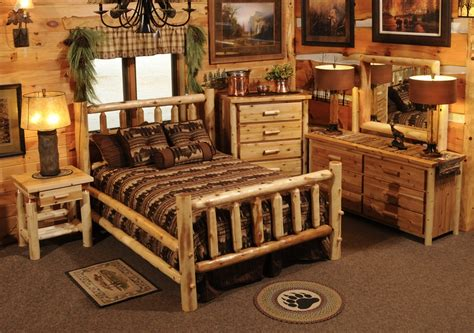 Log Furniture Bedroom Sets Hayward Traditional Cedar Bedroom Set Discounted Aspen Log Furniture The Log Furniture