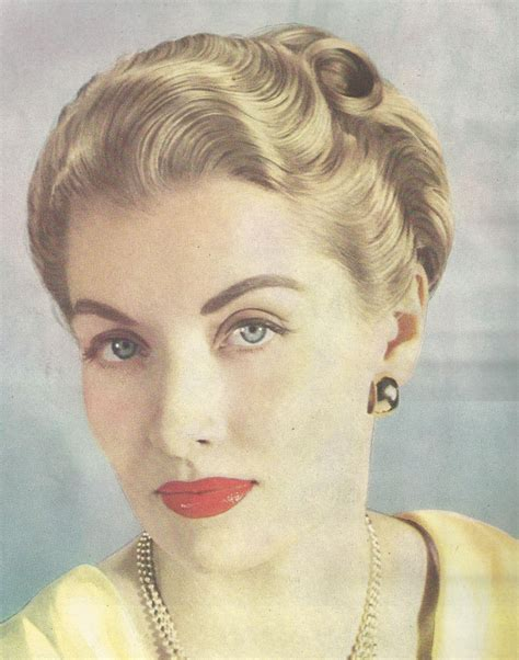 hairstyles late 40 s from a 1947 vogue showing the compact styling of the late