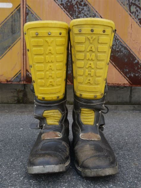 yamaha motocross boots yamaha official vtg motocross boots black 215 yellow 27 27 5cm