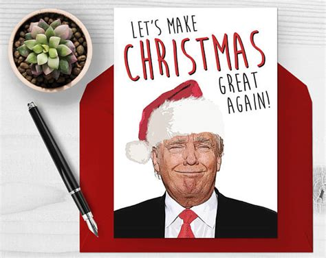donald trump christmas donald trump christmas card let s make christmas great