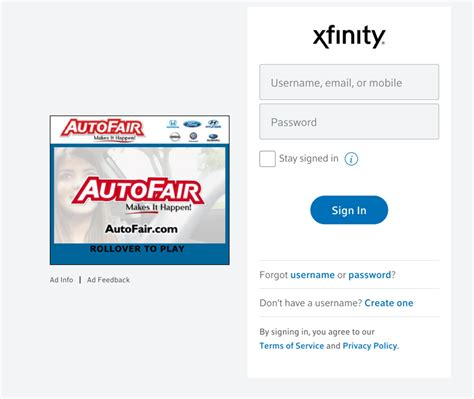 xfinity exle of how to build a terrible web experience