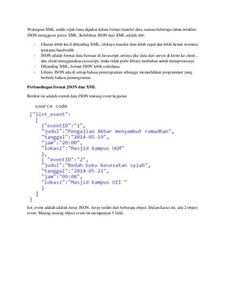 format json adalah penjelasan json