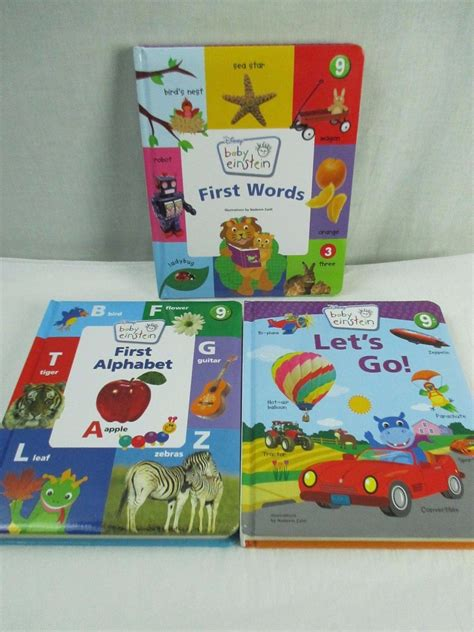 let my baby go books baby einstein board books lot 3 let s go words