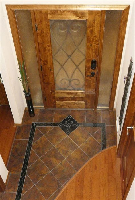Mosaic Tile Floor Entry   Tile Design Ideas