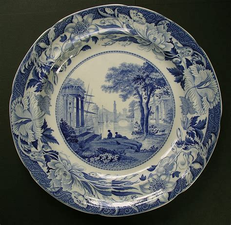 blue pattern pottery fine wedgwood blue claude pattern blue and white pearlware