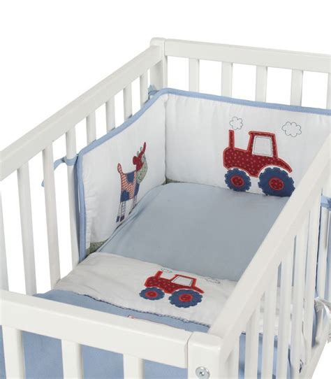 Tractor Crib Bedding Baby Weavers 3 Crib Bedding Set Busy Tractor Kiddicare This For A Boy Baby