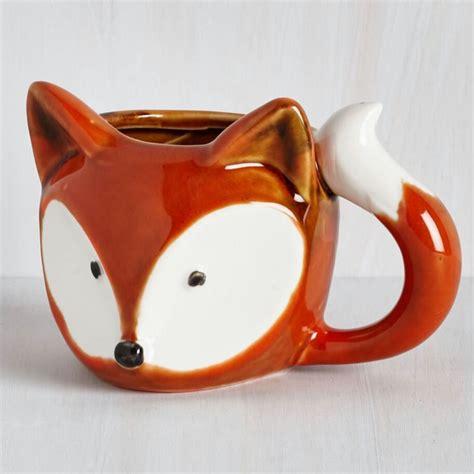 fox mug fox mug from modcloth animal mugs fall gifts from modcloth