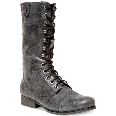 madden combat boots madden galeriaa lace up mid shaft combat boots in