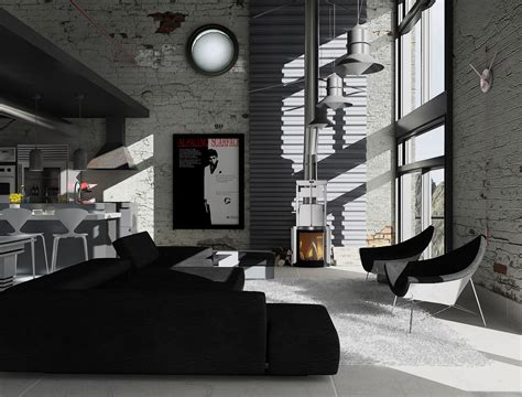 industrial loft by denisvema on deviantart industrial loft 04 by thiagomarcondes on deviantart