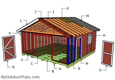 20x20 house plans 20x20 shed doors and trims plans myoutdoorplans free