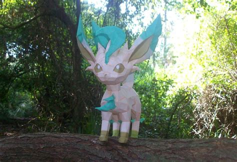 Leafeon Papercraft - leafeon papercraft for 3 by christopherf10 on deviantart