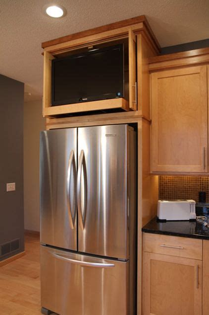 fridge kitchen cabinet contemporary kitchen by design details