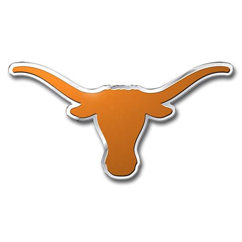longhorn colors longhorns color emblem car or truck decal team