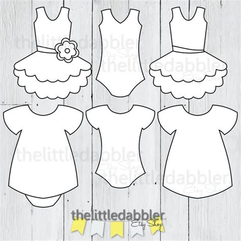 Dress And Tutu Templates Baby Shower Girl Onesie Baby Dress Baby Shower Dress Invitation Template