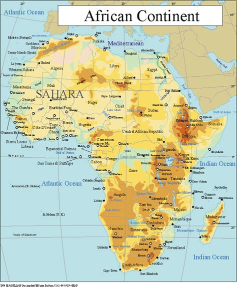 continent of africa map printable maps of the 7 continents