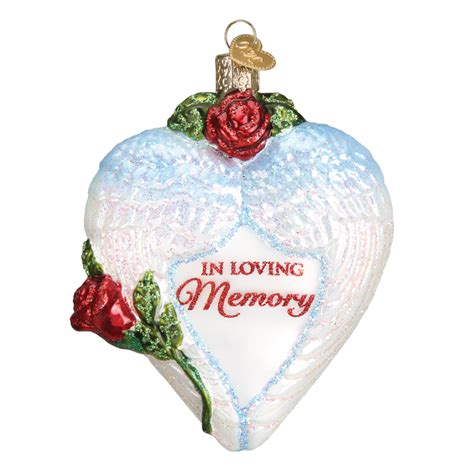 in loving memory angel wings old world christmas ornament