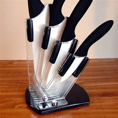 ceramic kitchen knives set river 4 pc ceramic knife set with acrylic holder