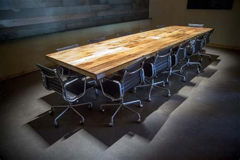 Reclaimed Wood Conference Table Reclaimed Tobacco Barn Brown Conference Table Porter Barn Wood