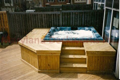 bathtub deck ideas pin deck with hot tub patio ideas on pinterest