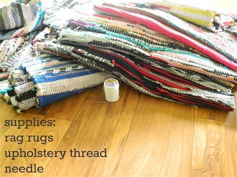 rag rug supplies diy area rug tutorial
