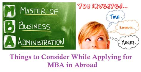 1 Year Mba In Singapore Cost by Things To Consider Before Applying For Mba In Abroad