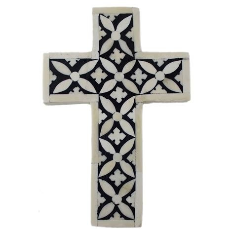 decorative crosses for the home monochrome toned bone inlay decorative cross roomattic