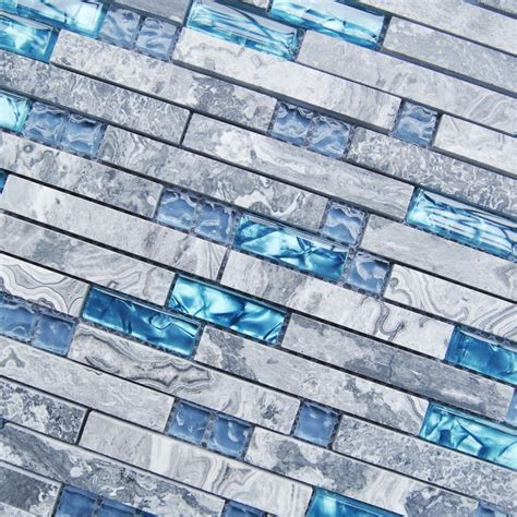 Ceramic Tile Murals For Kitchen Backsplash Sea Blue Glass Tile Kitchen Backsplash Marble Bathroom