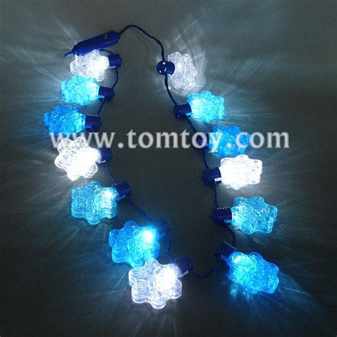 blue and white led snowflake lights led snowflake necklace blue and white tomtoy