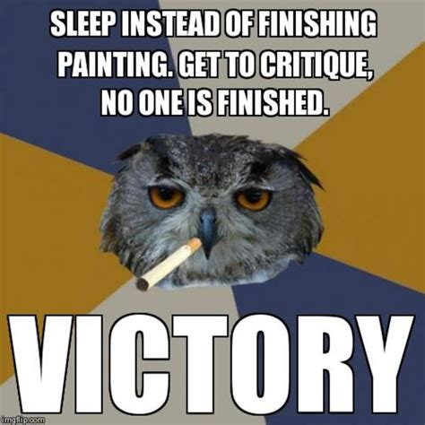 Art School Owl Meme - image 270767 art student owl know your meme
