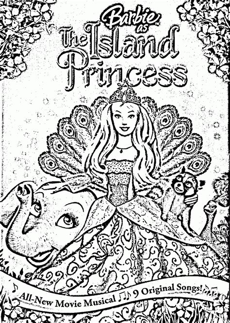 Barbie As The Island Princess Coloring Page Az Coloring Island Princess Coloring Pages
