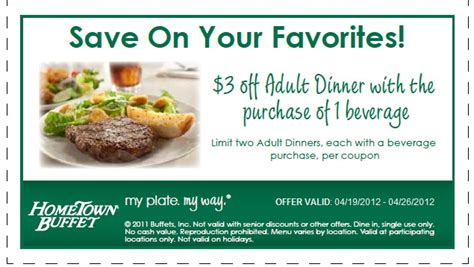 home town buffet 3 off printable coupon expires april