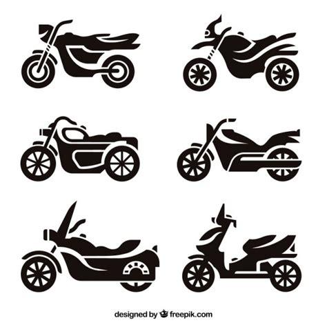 Motorrad Silhouette by Motorrad Silhouetten Download Der Kostenlosen Vektor