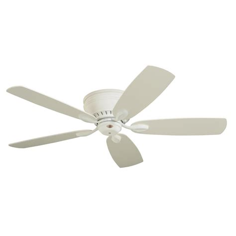 emerson prima snugger 52 in led satin white ceiling fan