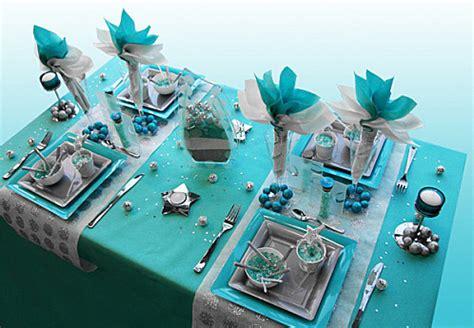 Exceptionnel Chemin De Table Casa #4: Decoration-de-table-Noel-turquoise-gris-blanc-2.jpg